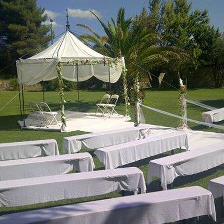 mariage dans parc près de Marseille