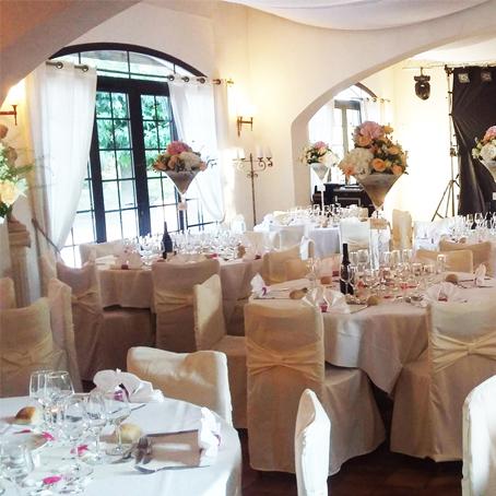 tables mariage fleuri